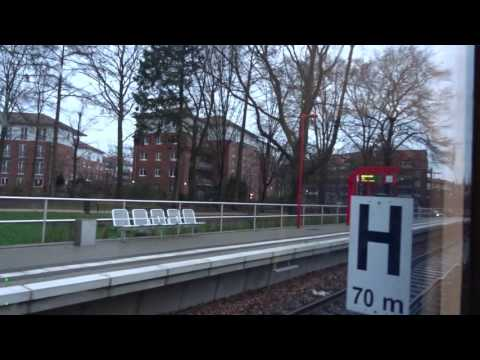 Hamburg AKN Eisenbahn A1: Elbgaustrasse - Ulzburg Süd