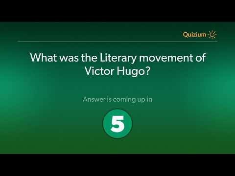 What was the Literary movement of Victor Hugo?   Victor Hugo Quiz
