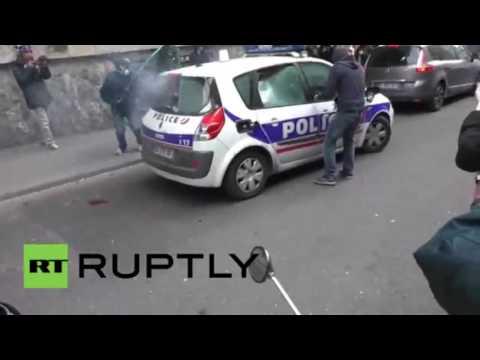 Manif18mai Paris incendie d'une voiture de police 2 points de vues streaming vf