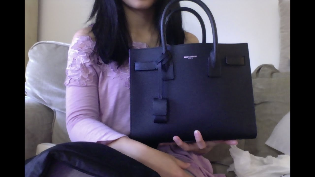 9355cef04f3d9 Saint Laurent Sac de Jour Baby Review - YouTube