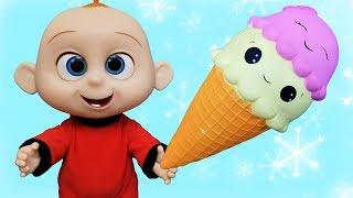 Johny Johny Yes Papa Nursery Rhymes Song and Ice cream play with