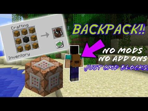MCPE Tutorials: How to make a BACKPACK | Command Blocks