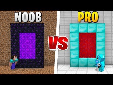 Minecraft - NOOB VS PRO (Secret Portal in Minecraft)