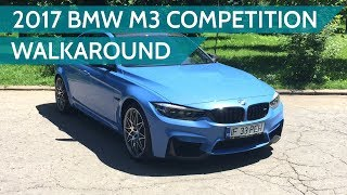 2017 bmw m3 competition package walkaround, features & sound