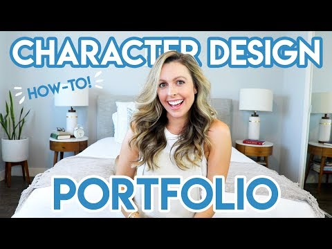 HOW TO MAKE A CHARACTER DESIGN PORTFOLIO thumbnail