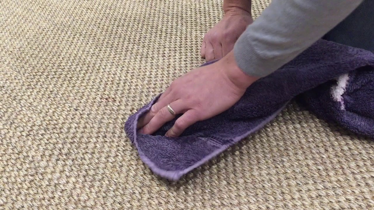 Cleaning Red Wine from Sisal - YouTube
