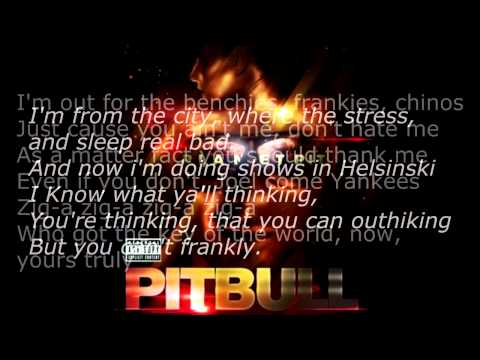 Don't Stop The Party - Pitbull (OFFICAL LYRICS)