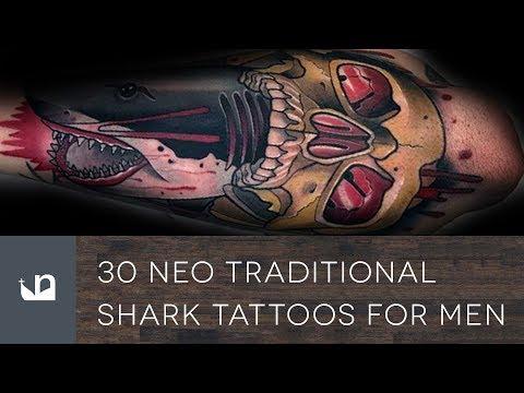 30 Neo Traditional Shark Tattoos For Men