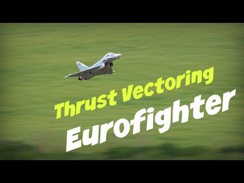 Thrust Vectoring Eurofighter, Windy Flights! - HD 50fps