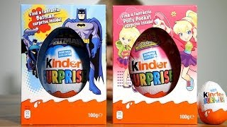 Two BIG Kinder Easter Edition Eggs: BatMan and Polly Pocket Surprise Eggs
