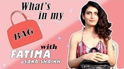 What's in My Bag with Fatima Sana Shaikh | Fatima Sana Shaikh Interview | Filmfare Exclusive