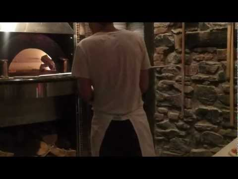 Making Margherita Pizza at Bevo Bar + Pizzeria in Montreal