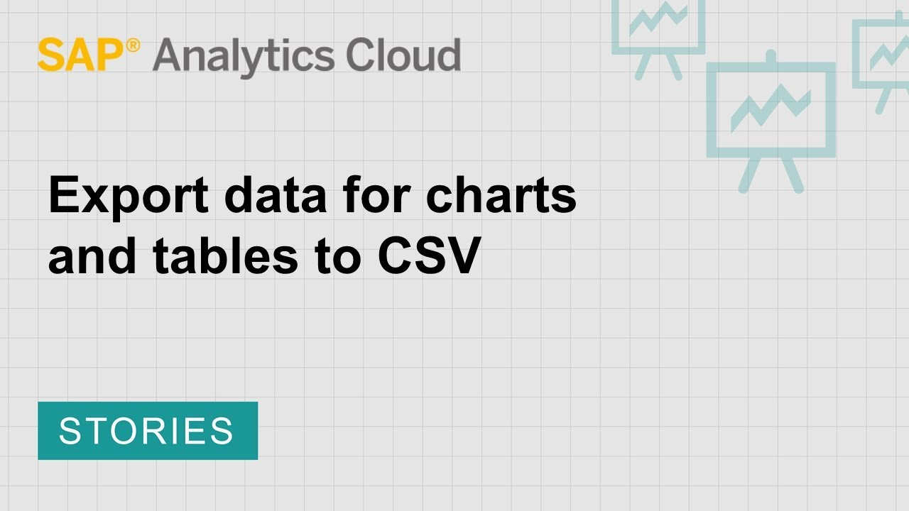 Export data for charts and tables to CSV | SAP | SAP