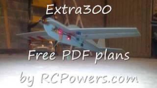 Extra300 Rc Flat Blue Plane