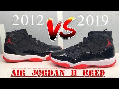 AIr Jordan 11 Bred Playoff 2019 VS 2012