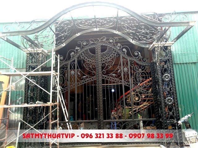 Thi công cửa cổng sắt nghệ thuật tại Hà Nội - 096 321 33 88