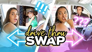 """Twins"" DRIVE THRU Swap Challenge! (funny reactions)"