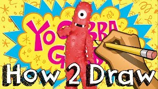 How To Draw Muno From Yo Gabba Gabba | Drawing Coloring Learning | JUNIORS TOONS