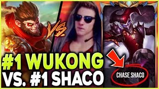 Download THE #1 WUKONG WORLD CLASHES WITH THE #1 SHACO WORLD (ONE TRICK BATTLE) - League of Legends Mp3 and Videos