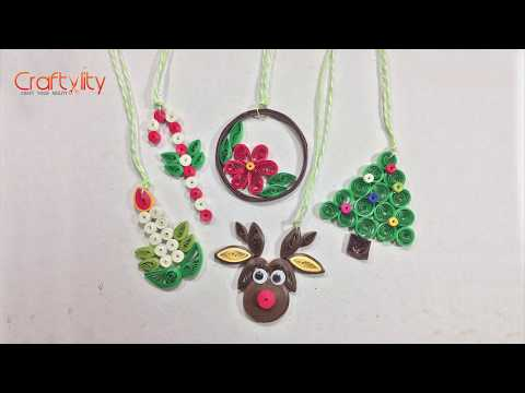 DIY Paper Quilling Christmas Decorations | DIY Christmas Quilling | Christmas Ornaments