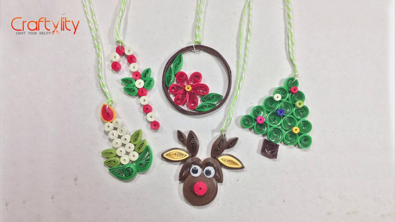 Diy Paper Quilling Christmas Decorations Diy Christmas Quilling Christmas Ornaments