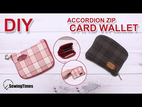 DIY Card wallet | 지퍼형 카드지갑 만들기 | Accordion zip wallet tutorial | free pattern | 財布作り方 #sewingtimes