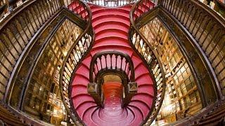 Livraria Lello in Porto, Portugal. Harry Potter library inspiration!