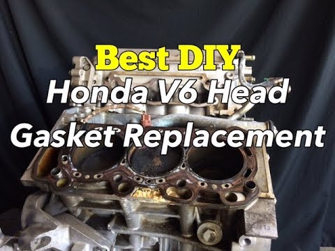 How Much Does It Cost To Replace >> Honda V6 Head Gasket Replacement - How to Change Accord ...