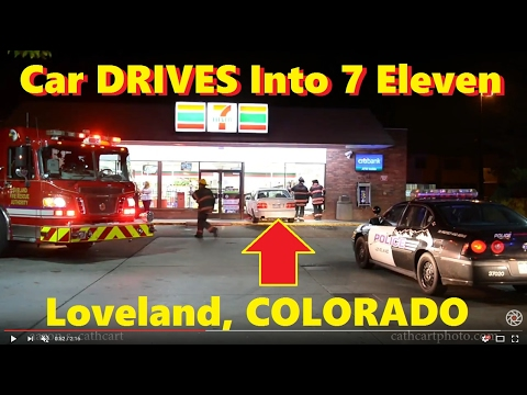 Car Drives into 7 Eleven in Loveland, Colorado