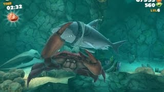 Hungry Shark Evolution: Defeating Giant Crab With Megalodon Gameplay iPad/iPhone/iPod HD 1080p
