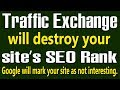 Traffic Exchange  will hurt your website's SEO Rank | Your site's Google search ranking may go down