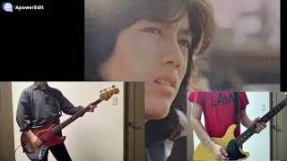 """岸辺""""サリー 一徳""""修三 ベースはやはり燃える!長年、ギターは堯之さんが弾いていると思っていたのも今となってはよい思い出。"""