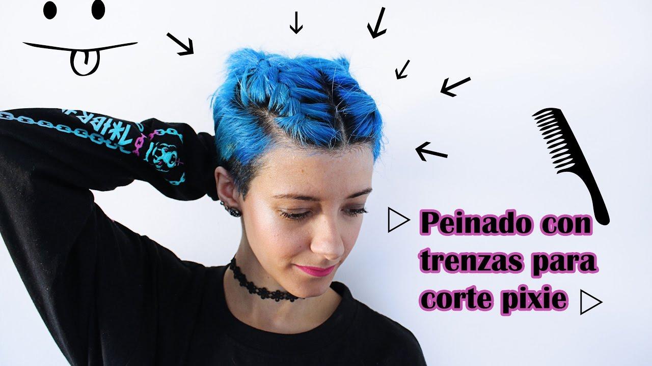 Peinado Con Trenzas Para Corte Pixie Littlefenu Youtube