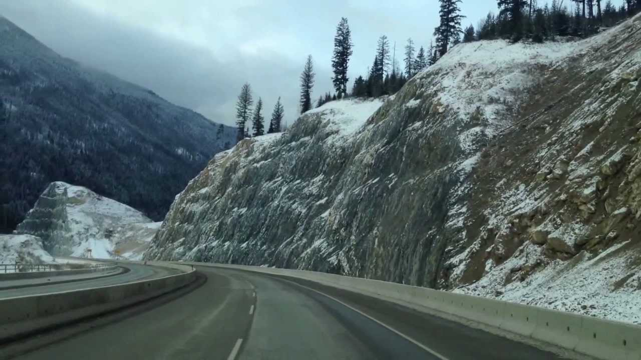 Driving through Rocky Mountains in Winter 3 - YouTube