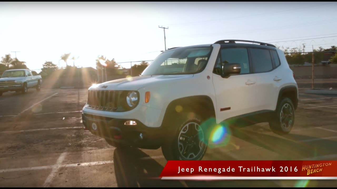 2016 jeep renegade trailhawk orange county huntington beach jeep youtube. Black Bedroom Furniture Sets. Home Design Ideas