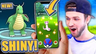 HUNTING SHINY DRATINI in Pokemon GO! (SHINY DRAGONITE?)