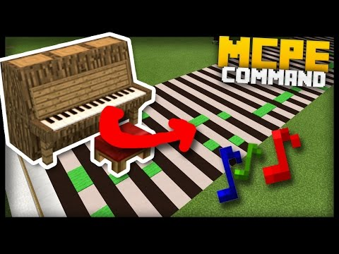 MCPE - Real Time MUSIC MAKER & READER with Command Blocks!