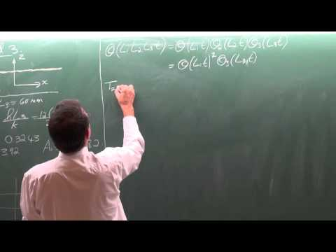 Lecture 14 (2013). 4.4 Transient heat conduction in multidimensional systems (continue)