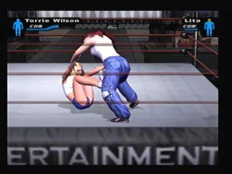 044563986f WWE SmackDown! Here Comes The Pain - Torrie Wilson Vs Lita Bra   Panties  Match