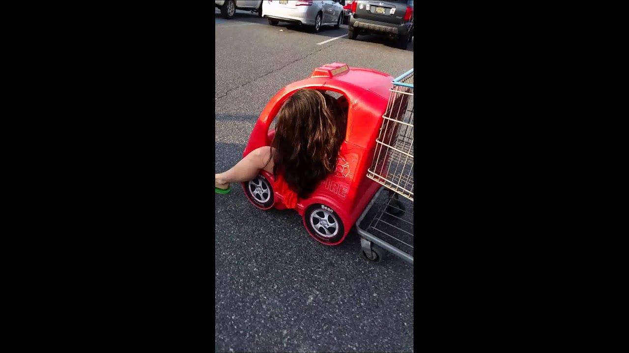 Sexy girl stuck