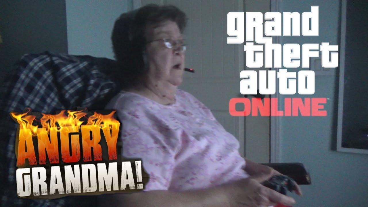 Angry Grandma Plays Gta 5 Online Youtube