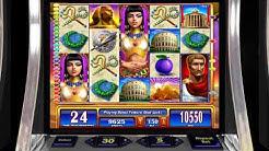 "ROME & EGYPT Video Slot Casino Game with a ""MEGA BIG WIN"" RETRIGGERED FREE SPIN BONUS"