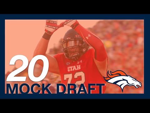 2017 NFL Mock Draft - Denver Broncos 20th Pick - OT Garrett Bolles from Utah.