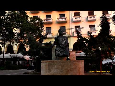 Thessaloniki,The Aristotelous Square - a symbol of the city (1080p HD)