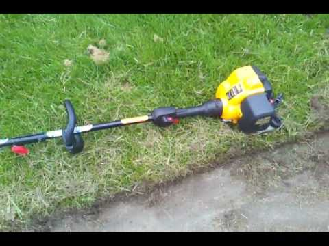 poulan pro pp335 edger attachment real test with thick cutting  impressinve  job!