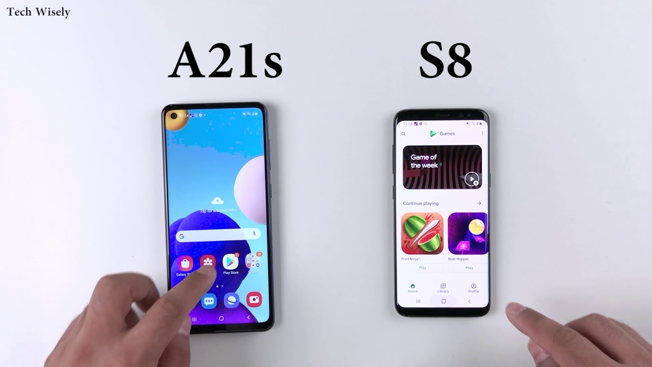 Samsung A21s Vs S8 Speed Test Youtube