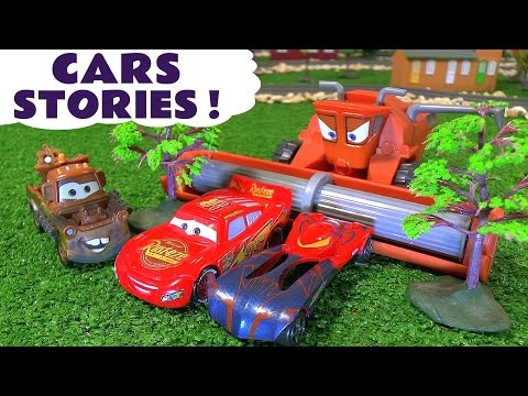 Disney Cars Toys McQueen Compilation with Hot Wheels Spiderman | Fun family friendly stories by TT4U