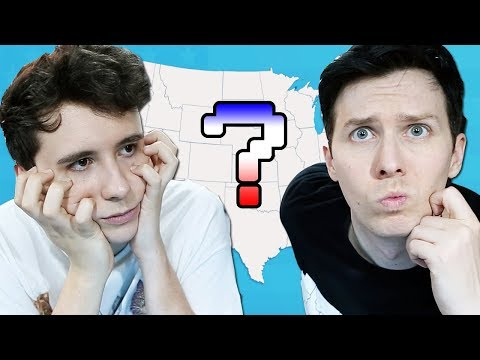 Can Dan and Phil guess the USA States?!