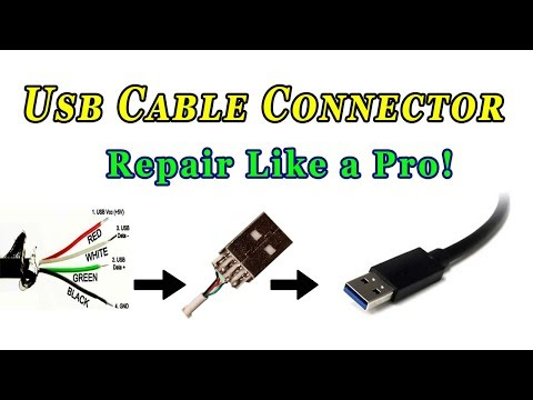 How To Repair Usb Cable Connector