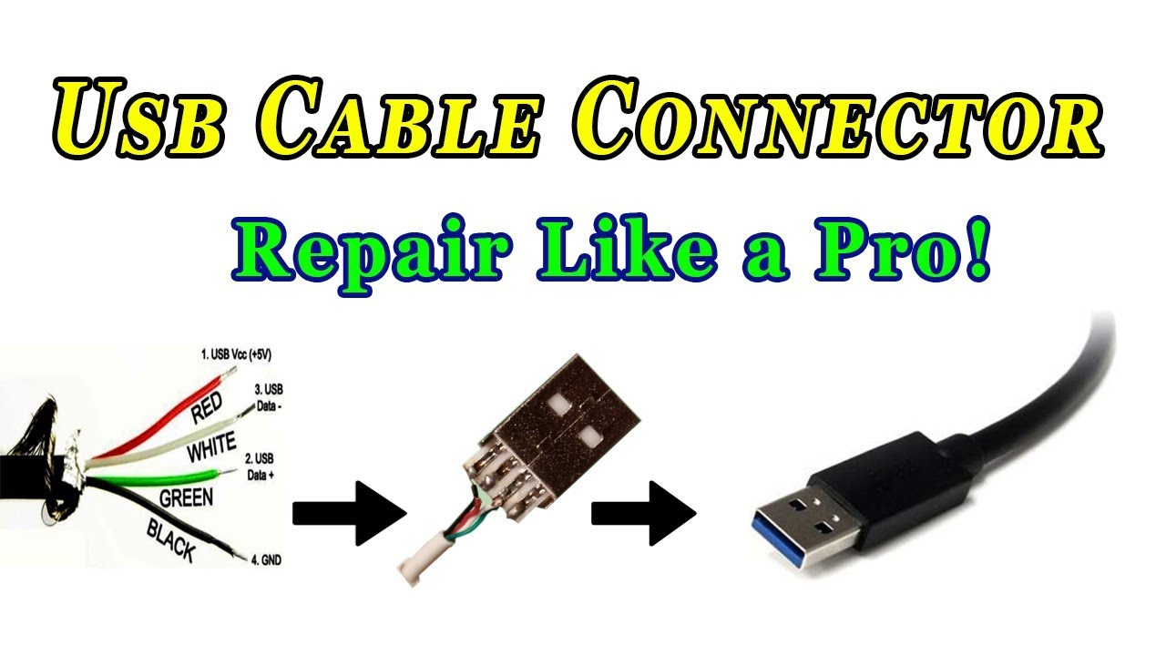 How To Repair Usb Cable Connector  YouTube